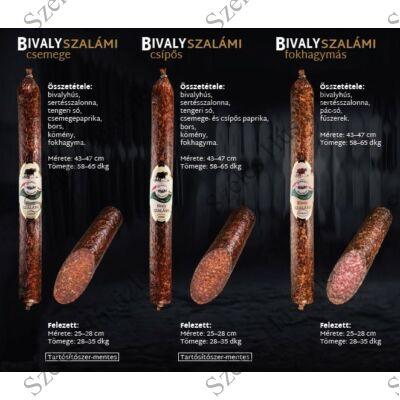 SZ.Bivaly Szalámi (FOKHAGYMÁS) 0,6 kg/rúd