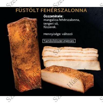SZ.Mangalica Füstölt Fehér (kenyér) szalonna  0,5 kg/csomag