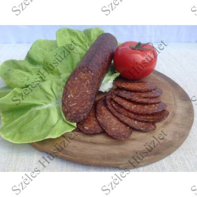 SZ.Szürkemarha Szalámi 100 %-os (CSÍPŐS) 0,6 kg/rúd (sertés-mentes)