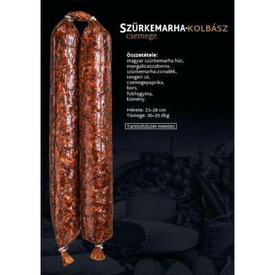 SZ.Szürkemarha Kolbász (CSEMEGE) 0,3 kg/db