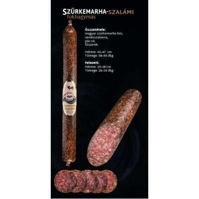 SZ.Szürkemarha Szalámi (FOKHAGYMÁS) 0,6 kg/rúd